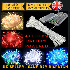 AA Battery Powered Xmas  Christmas Party LED String Fairy Lights 40 Led 5meter