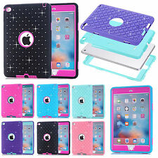 Kids Rugged Shockproof Heavy Duty Rubber Hard Hybrid Case Cover For iPad Mini 4
