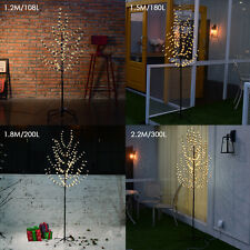 4/5/6/7FT Outdoor LED Cherry Blossom Tree Light Warm White Garden Easter Decor
