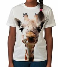Giraffe Face Funny Animal Safari African Cool Girls Kids Child T Shirt 3-12
