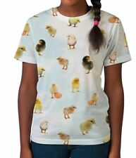 Easter Chicks in the Sky Funny Animal Birds Cute Girls Kids Child T Shirt 3-12