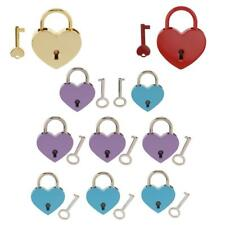 Vintage Heart Shaped Padlock Jewelry Boxes Lock Set Perfect for Christmas Gift