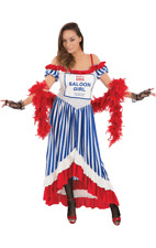Ladies Cheap Budget Value Basic Saloon Girl Fancy Dress Costume