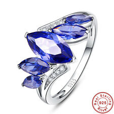 Free Jewelry Box Marquise Cut Tanzanite 100% 925 Sterling Silver Ring Sz 6 7 8 9