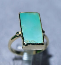 Ajoite in Quartz 7.33ct Cabochon Handcrafted 18k Gemstone Ring