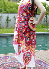 Travel Gym Camping Bath Pool Cover Ups Floral Chiffon Round Blankets Towels