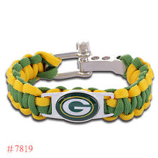 Chicago Bears, Green Bay Packers Paracord Awesome Bracelet