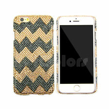 Gold/Gray Crystal Bling Case Cover For iPhone 6 7 Plus Made w/ SWAROVSKI ELEMENS
