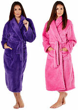 Ladies dressing gown bath robe fluffy soft feel warm bathrobe Housecoat