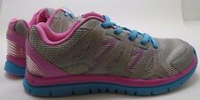 CHAMPION  Girls Athletic Running Shoes  Gray Pink Blue  Youth 4.5 NEW