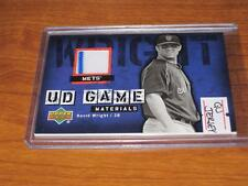 2006 UD GAME MATERIALS DAVID WRIGHT Game Used Jersey CARD New York Mets STRIPE!