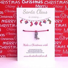 Santa Claus is Coming.... Christmas Wish Bracelet / Stocking Charm / Filler Gift