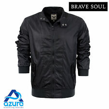 Mens Jacket Brave Soul 'Christian' Lightweight Coat Bomber Harrington Sizes S-XL