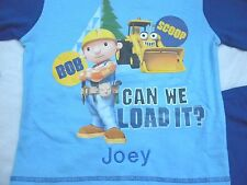 Personalised Bob the Builder cotton pyjamas age 12 months - 4 years with a name