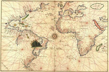 World Map attributed to Diego Ribero (classic map)