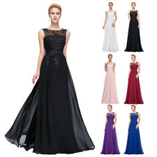 ❤Womens Long Chiffon Dress Evening Ball Party Carpet Gown Formal Bridesmaid Prom