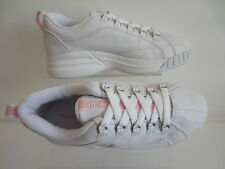 Converse Girls Cynch White/Pink Leather/ Synthetic Trainers 2G791 UK3x5 (R6B)