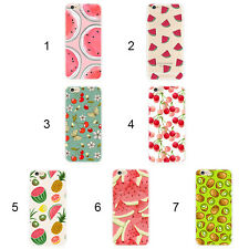Creative Ultra-thin Fruit Pattern TPU Phone Back Case Cover For iPhone 7/7 Plus