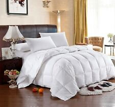 Royal Tradition Striped Goose Down 300TC Combed Cotton Comforter - MSRP $249.99