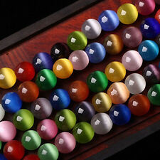 20/50Pc Cat Eye Colorful Gemstone Round Spacer Loose Bead Jewelry Finding 6-10MM