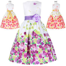 Lavender Flower Girls Kids Pageant Dress Formal Party Prom Princess Gown 2~12yrs