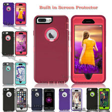 Full protection Defender Rugged Case iphone 7 /7 plus Cover (Clip Fits Otterbox)