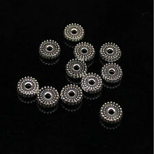 100pcs Tibet Silver Loose Spacer Beads Charm Jewelry Making Findings DIY Beads g