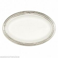 Arte Italica Tuscan Ceramic / Pewter Small Oval Plate / Soap Dish Made in Italy