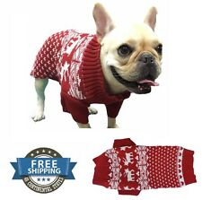 Dog Reindeer Costume Holiday Pet Clothes Sweater for Dogs Puppy Kitten Cats Gift