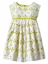 New Baby Gap Contrast eyelet dress party Light Green White sizes 12-18-24 months