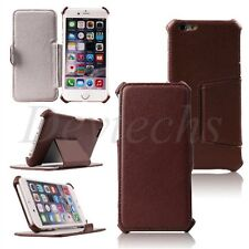 Shockproof Leather Stand Case Cover Skin Accessory for Apple iPhone 6/ 6S Brown