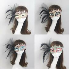 Women Feather Masquerade Ball Eye Mask Party Fancy Dress Halloween Eyewear