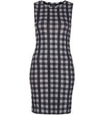 Topshop Gingham Marl Tank Mini Dress UK4/6