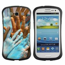Shockproof Anti-Drop Heavy Duty Case For Samsung Colorful Holi Human Hands