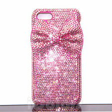 3D Bow Pink Crystal Bling Case Cover For iPhone 6 6s 7 Plus W/ SWAROVSKI ELEMENT
