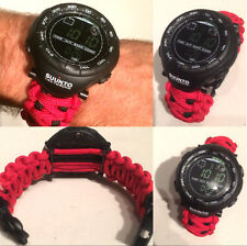 Custom 550 Paracord WATCH BAND for the SUUNTO VECTOR Model Survival Strap Kit