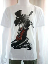 Slash Gun N' Roses Guitarist Hero Punk Rock Band Men T-Shirt White Size M , L
