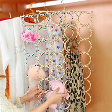 Fashion Scarf Scarves Belts 28-Ring Hanger Closet Organizer Holder Hook
