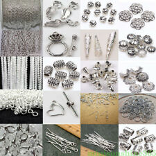 Lot Silver Plated Chains/Hook/Pin/Jump Rings/Clasp DIYJewelry Making Accessories