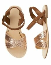 NWT Gymboree Fruit Punch Girls Gold Sandals 10,11,12,13,1,2