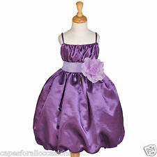 NEW PURPLE FLOWER GIRL DRESS PAGEANT CHRISTMAS 2 2T 3 3T 4 4T 5 5T 6 6X 7 8 9 10
