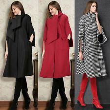Womens Ladies Woolen Winter Long Coat Trench Parka Outwear Jacket Overcoat 8-18