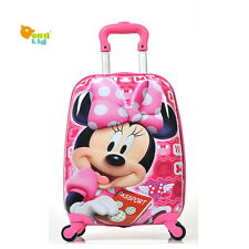 Mickey Mouse Disney Kids Boarding Suitcase Luggage Wheels Trolley ABS travel
