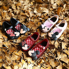 Kids Girls Toddler Infant Summer Cartoon Cute Mickey Minnie Sandals Jelly Shoes