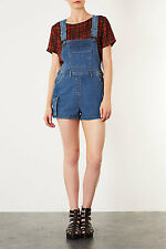 Topshop Moto Denim Indigo Pocket Dungaree Playsuit Short UK 6 8 34 36 US 2 4 NWT
