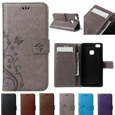 Retro PU Leather Card Slot Kickstand Wallet Case Cover Skin for HuaWei P9 Pouch