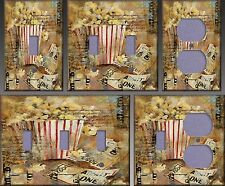 Theater Popcorn Wall Decor Light Switch Plate Cover
