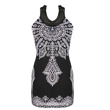 Women's Sexy Floral Bohemia Classic Vintage Stand Collar Exotic Mini Dress New