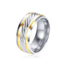 Mens Rings Huggie Carved Wedding Band Ring Stainless Steel Gift Jewelry