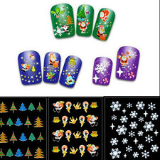 12 Sheet Christmas Snowflake Nail Art Sticker Decal Tips Decoration Manicure DIY